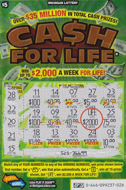 20 Year Old Michigan Lottery Player Wins 2 000 A Week With Cash For Life Game Michigan Lottery Connect