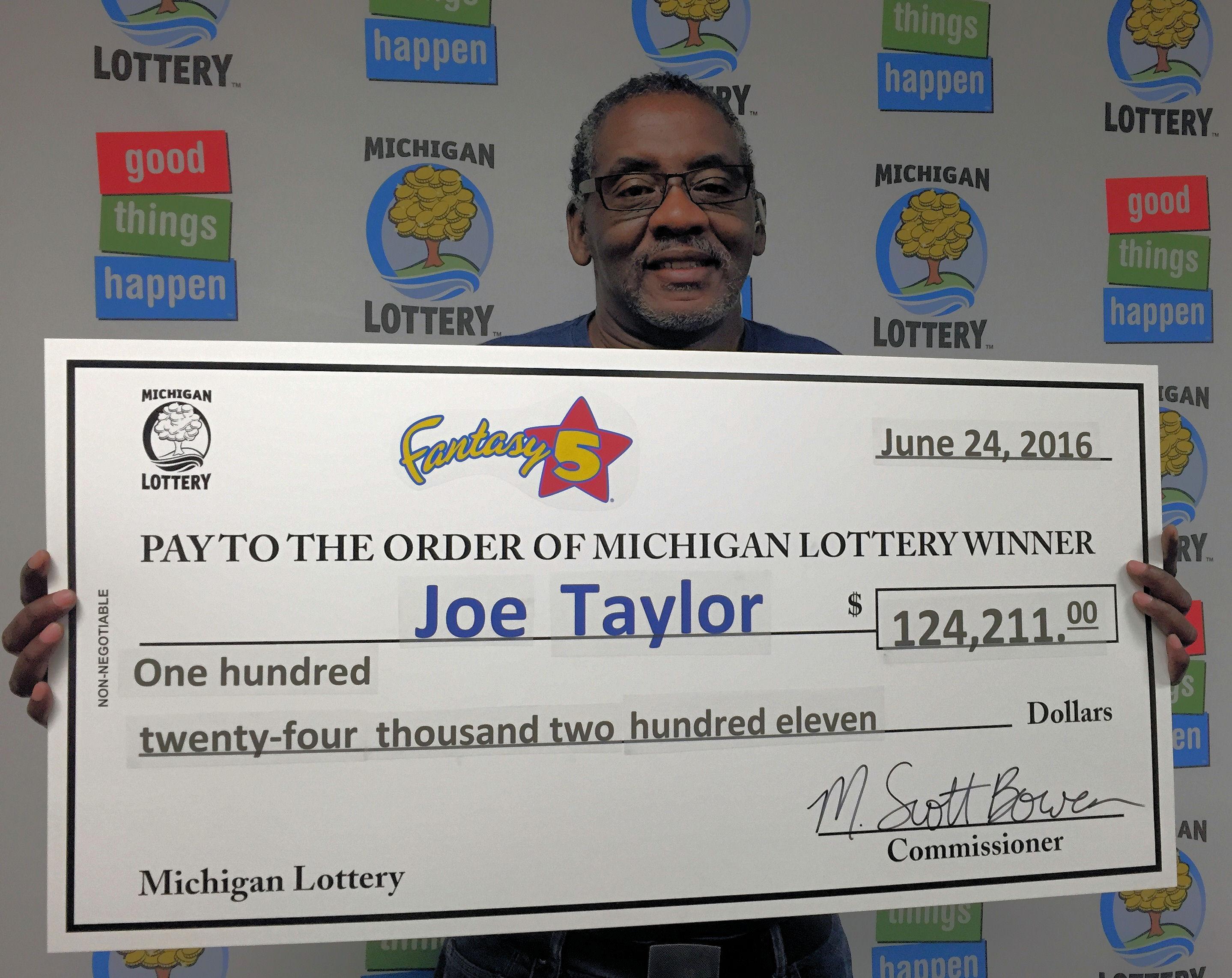 Genesee County Man Wins Half of $248,422 Fantasy 5 Jackpot