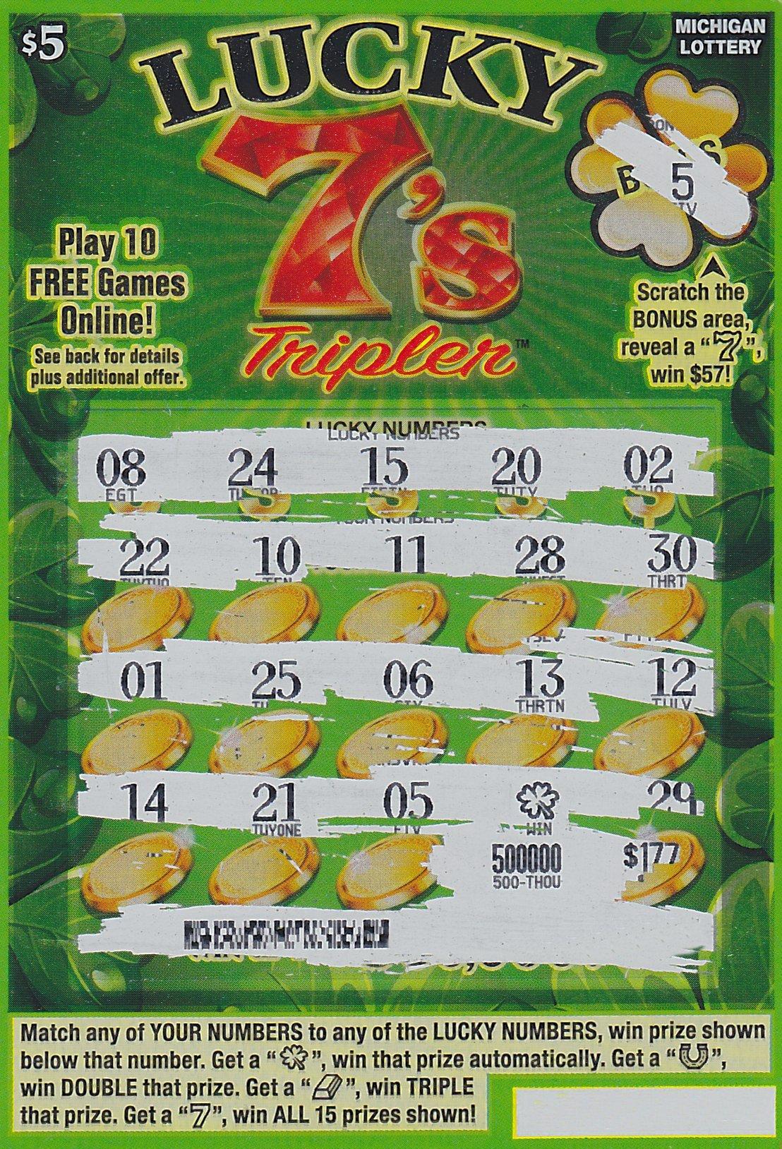 Oakland County Man Wins $500,000 Playing Michigan Lottery's