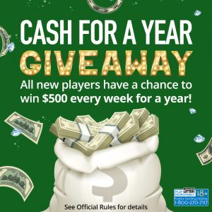 Michigan Lottery's Cash for a Year Giveaway Offers New Online