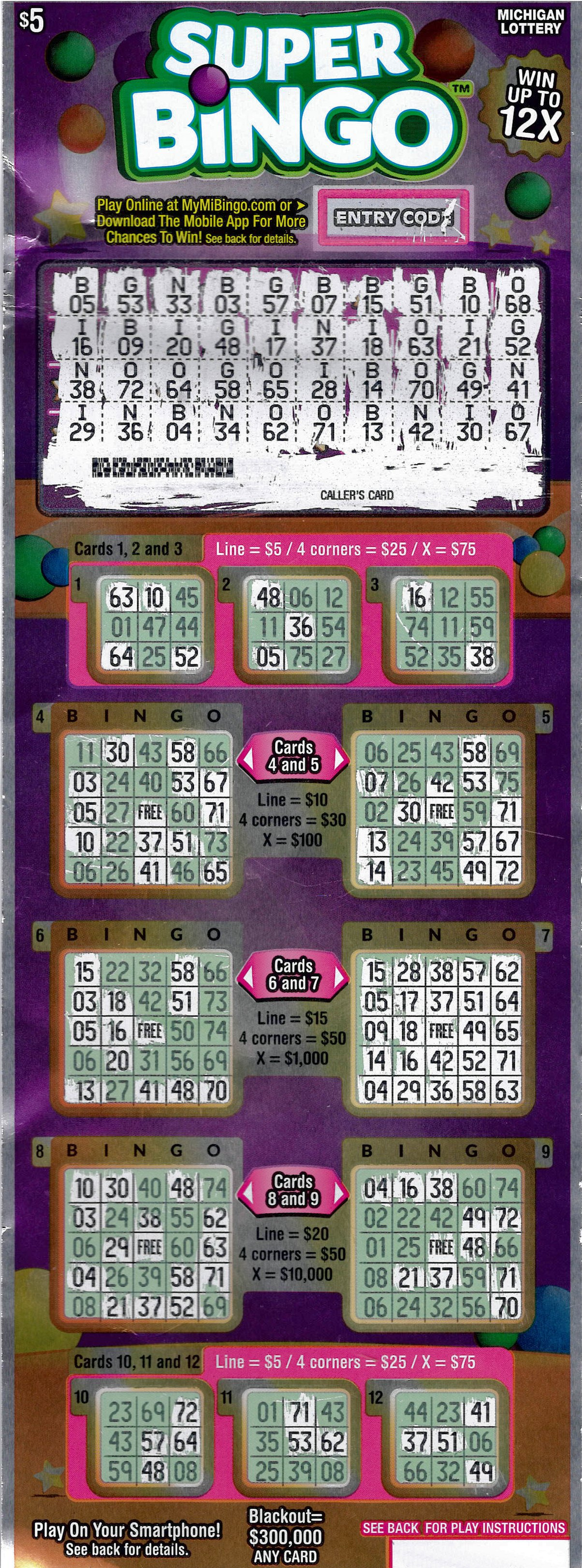 Bingo lottery numbers